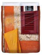 Orange Cloth  Duvet Cover