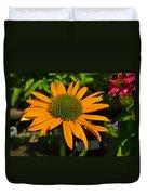 Orange Cone Flower Duvet Cover