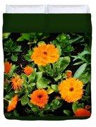Orange Country Flowers - Series I Duvet Cover