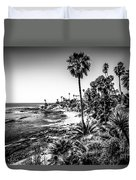 Orange County California In Black And White Duvet Cover