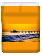 Orange County Panoramic Sunset Picture Duvet Cover