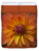 Orange Dahlia Blossom Duvet Cover