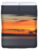 Orange Dawn Rising Duvet Cover