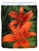 Orange Day Lilies Duvet Cover