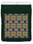 Orange Day Lily Design Duvet Cover
