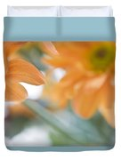 Orange Design. Paintrly Chrysanthemum  Duvet Cover