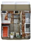Orange Door Duvet Cover
