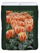 Orange Dutch Tulips Duvet Cover