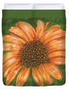 Orange Echinacea Duvet Cover