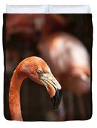 Orange Flamingo Duvet Cover
