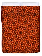 Orange Floral Abstract Duvet Cover