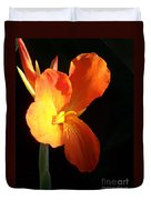 Orange Flower Canna Duvet Cover