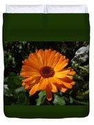 Orange Flower In The Garden Duvet Cover