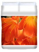 Orange Flower Petals Duvet Cover