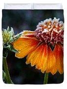Orange Frosty Duvet Cover