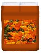 Orange Glimmer Duvet Cover