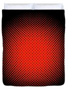 Optical Illusion - Orange On Black Duvet Cover