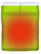 Optical Illusion - Orange On Lime Duvet Cover