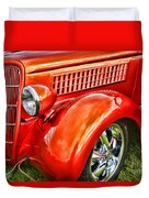 Orange Hood And Fender-hdr Duvet Cover