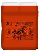 Orange Horse Duvet Cover