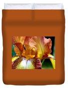 Orange Iris Duvet Cover