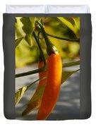 Orange Jalapeno Pepper  Duvet Cover