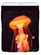 Orange Jellyfish Duvet Cover