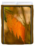 Orange Leaves Of Fall Duvet Cover