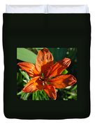 Orange Lilly Duvet Cover