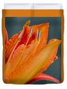 Orange Lily Duvet Cover