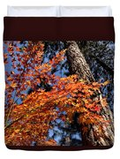 Orange Maple Duvet Cover