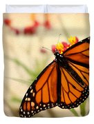 Orange Mariposa Duvet Cover