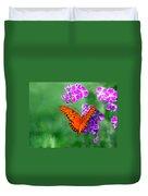 Orange Monarch Butterfly Duvet Cover