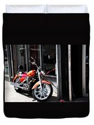 Orange Motorcycle Duvet Cover