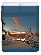 Orange October 2012 Celebrates The San Francisco Giants Duvet Cover by Jorge Guerzon