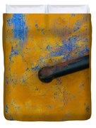 Orange On Blue Duvet Cover
