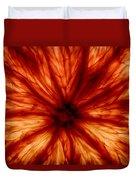 Orange On Fire Duvet Cover