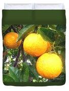 Orange On Tree Duvet Cover