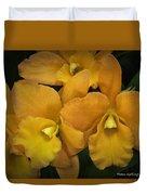Orange Orchid Group Duvet Cover