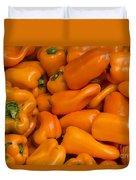 Orange Peppers Duvet Cover