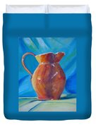 Orange Pitcher Still Life Duvet Cover