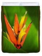 Orange Pocket Fold Duvet Cover