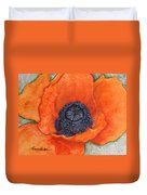 Orange Pop Watercolor Duvet Cover