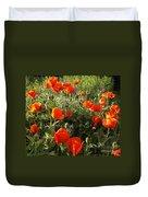 Orange Poppies In Sunlight Duvet Cover