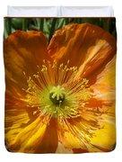 Orange Poppy Duvet Cover