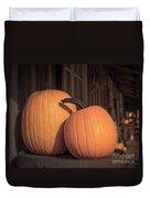 Orange Pumpkins Duvet Cover