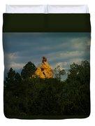 Orange Rock Among The Trees Duvet Cover
