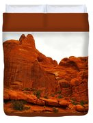 Orange Rock Duvet Cover