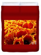 Orange Sea Duvet Cover