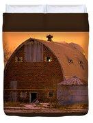 Orange Sky Barn Duvet Cover